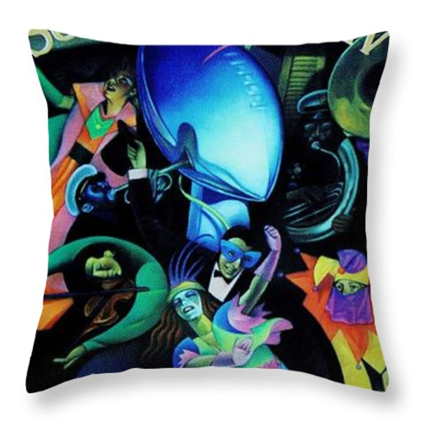 The Team of the 80s Throw Pillow by Benjamin Yeager