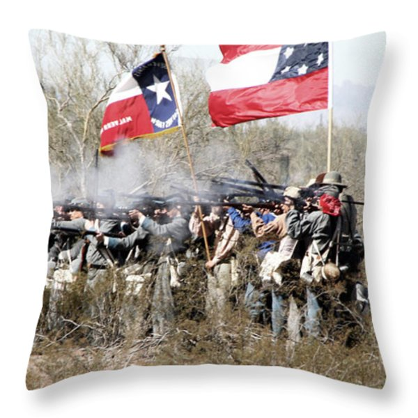 The Thin Gray Line Throw Pillow by Joe Kozlowski