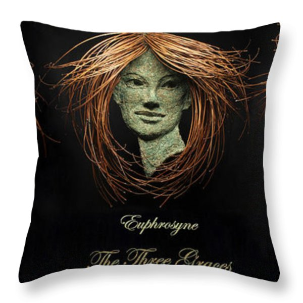 The Three Graces Throw Pillow by Adam Long