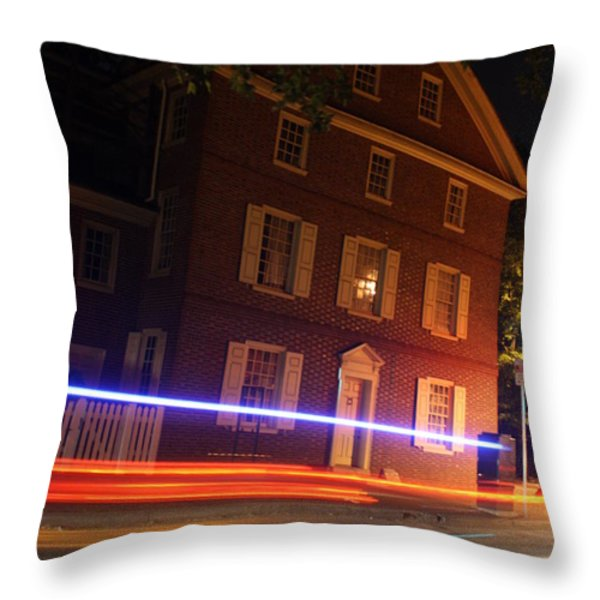 The Todd House Philadelphia Throw Pillow by Christopher Woods