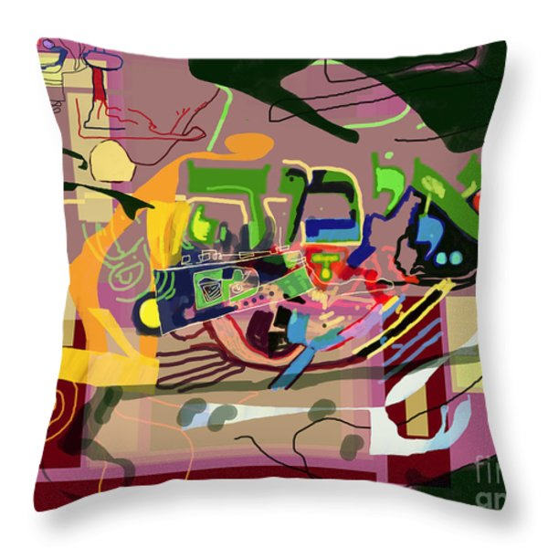 the Torah is aquired with awe 3 Throw Pillow by David Baruch Wolk