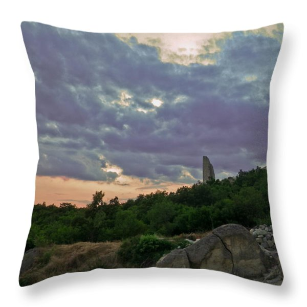 The Tower Throw Pillow by Eti Reid
