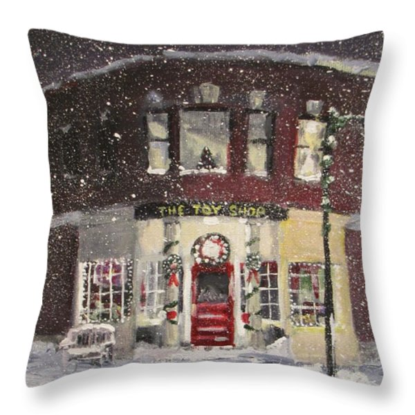 The Toy Shop Throw Pillow by Jack Skinner