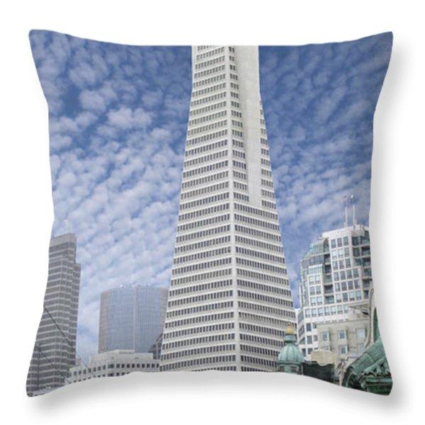 The Transamerica Pyramid - San Francisco Throw Pillow by Mike McGlothlen