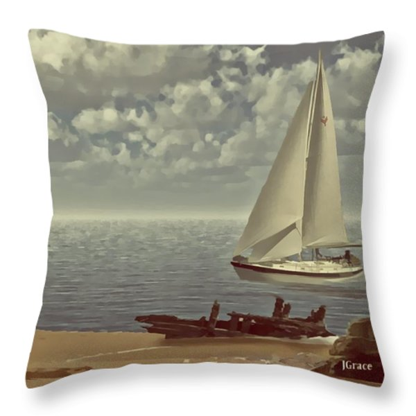 The Treasure Throw Pillow by Julie Grace