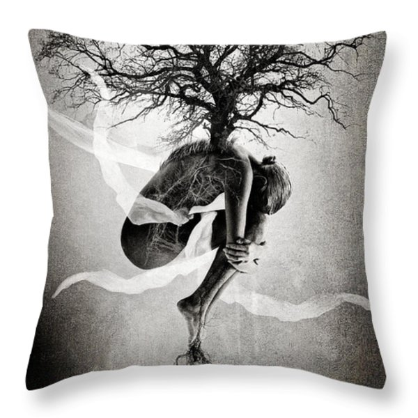 The Tree Of Life Throw Pillow by Erik Brede