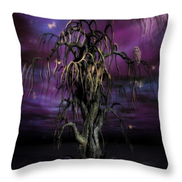 The Tree Of Sawols Throw Pillow by John Edwards