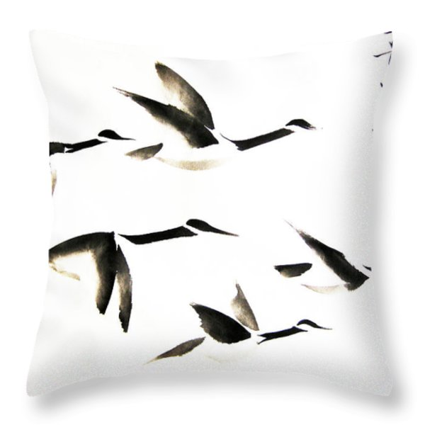 The Trek South Throw Pillow by Oiyee  At Oystudio