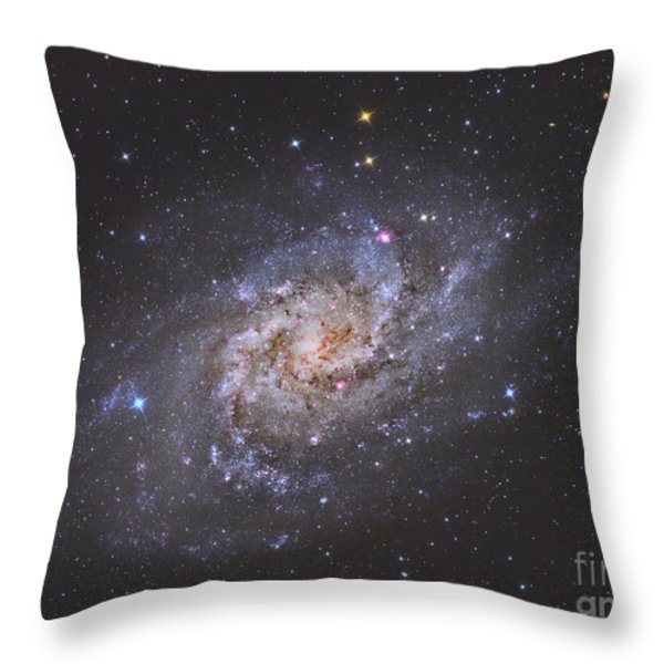 The Triangulum Galaxy Throw Pillow by Reinhold Wittich