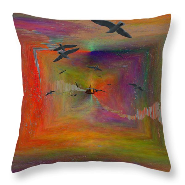 The Tributaries Throw Pillow by Tim Allen