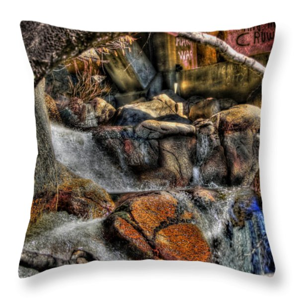 The Trolls Home Throw Pillow by Bill Gallagher