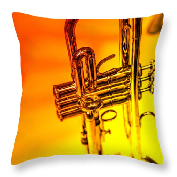 The Trumpet Throw Pillow by Karol  Livote