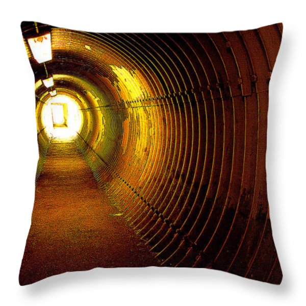 The Tunnel Throw Pillow by Theresa Tahara