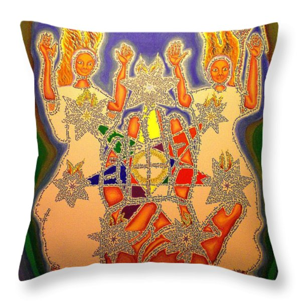 The Two Witnesses  Throw Pillow by Hidden  Mountain