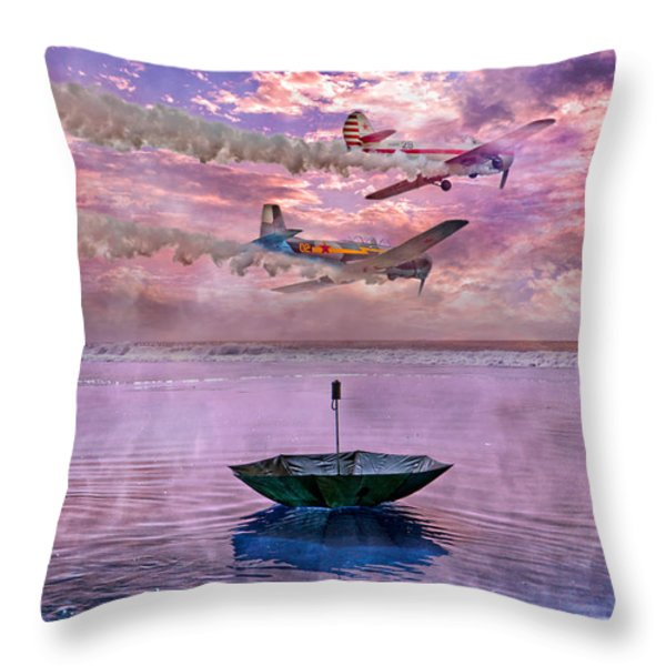 The Umbrella Policy  Throw Pillow by Betsy A  Cutler