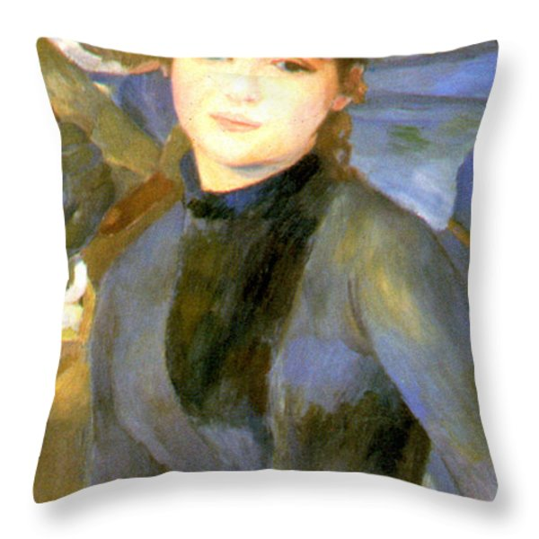 The Umbrellas Detail IIi Throw Pillow by Pierre Auguste Renoir