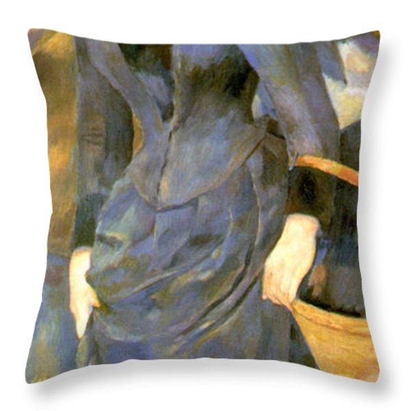 The Umbrellas Details Throw Pillow by Pierre Auguste Renoir
