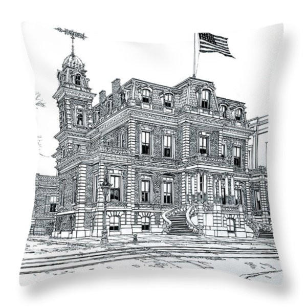 The Union League Philadelphia 1867 Throw Pillow by Ira Shander