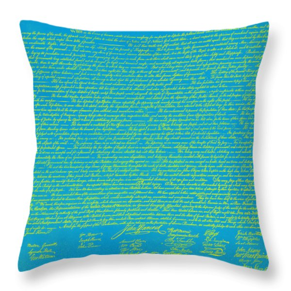 The United States Declaration Of Independence 20130215p68 Throw Pillow by Wingsdomain Art and Photography