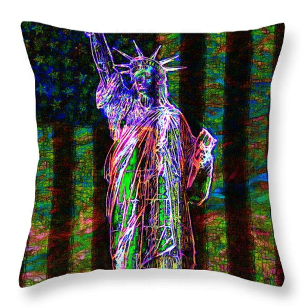The United States Of America 20130115 Throw Pillow by Wingsdomain Art and Photography