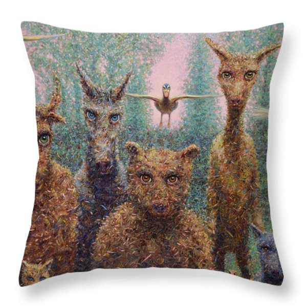 The Untamed Throw Pillow by James W Johnson