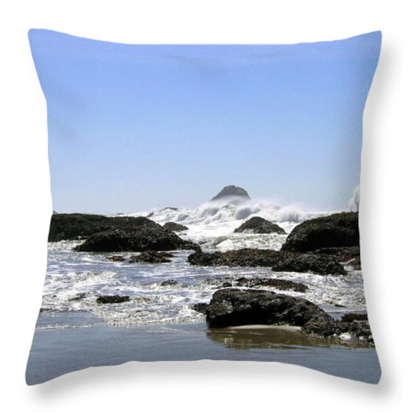 The Untamed Sea Throw Pillow by Will Borden