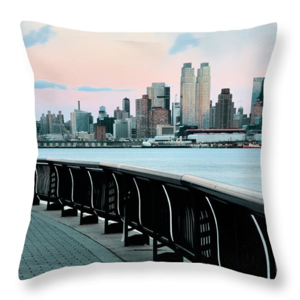 The Upper West Side Throw Pillow by JC Findley