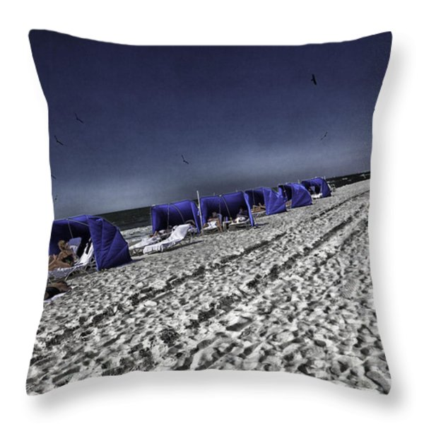 The Vacationers 1 Throw Pillow by Madeline Ellis