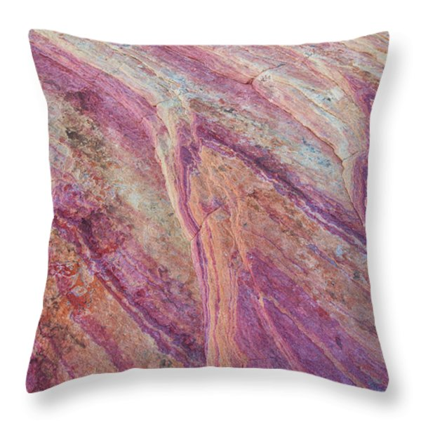 The Valley Floor Throw Pillow by Darren  White