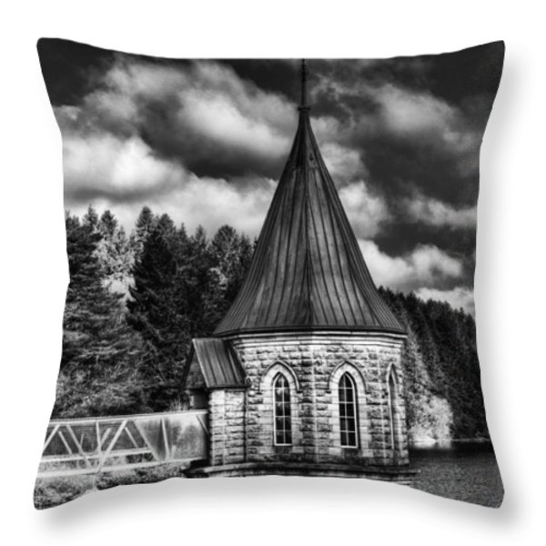 The Valve Tower Mono Throw Pillow by Steve Purnell