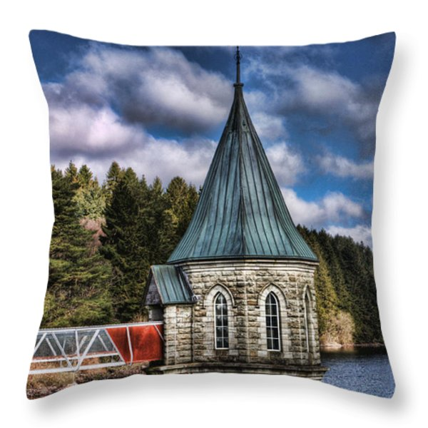 The Valve Tower Throw Pillow by Steve Purnell