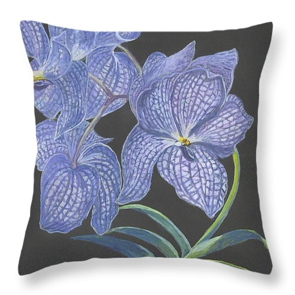 The Vanda Orchid Throw Pillow by Carol Wisniewski