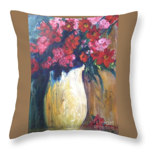 The Vase Throw Pillow by Sherry Harradence