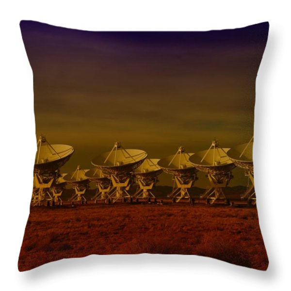 The Very Large Array In New Mexico Throw Pillow by Jeff  Swan