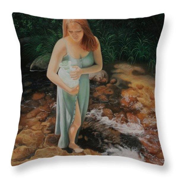 The Vessel Throw Pillow by Holly Kallie