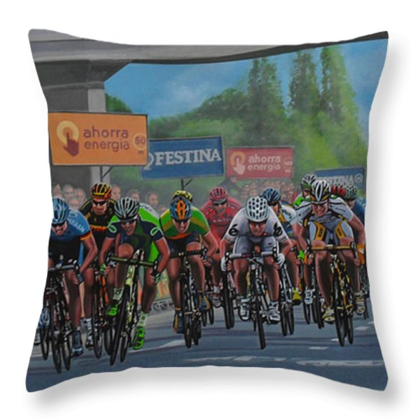 The Vuelta Throw Pillow by Paul Meijering