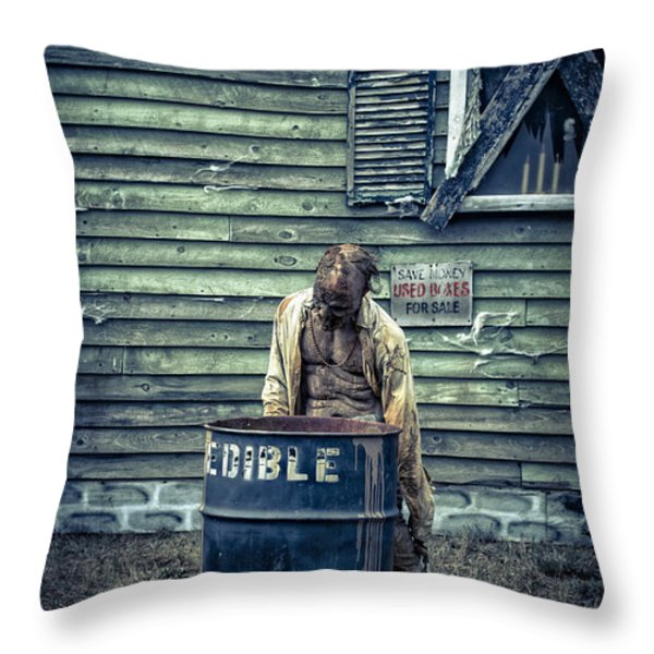 The Walking Dead Throw Pillow by Edward Fielding