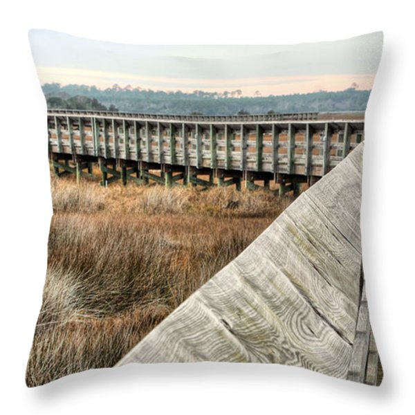 The Walkway Throw Pillow by JC Findley