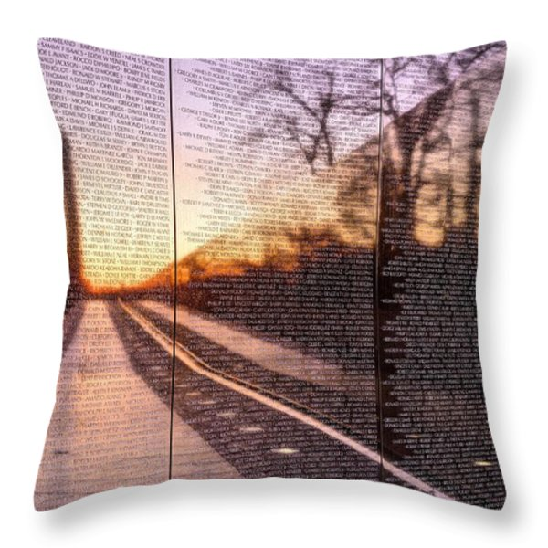 The Wall Throw Pillow by JC Findley