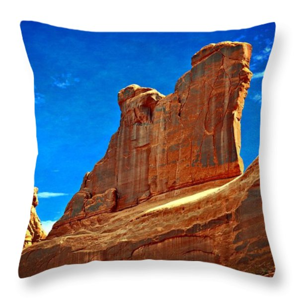 The Wall Throw Pillow by Marty Koch