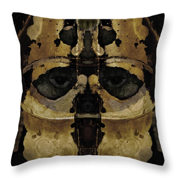 The Warrior Throw Pillow by David Gordon