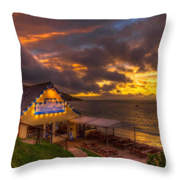 The Waterfront Throw Pillow by English Landscapes