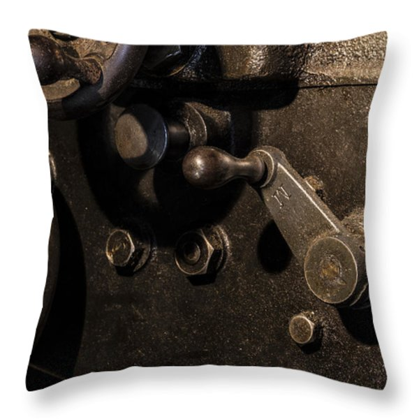 The Way Back Machine Throw Pillow by Andrew Pacheco