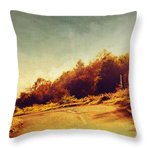 The Way Down. Trossachs National Park. Scotland Throw Pillow by Jenny Rainbow