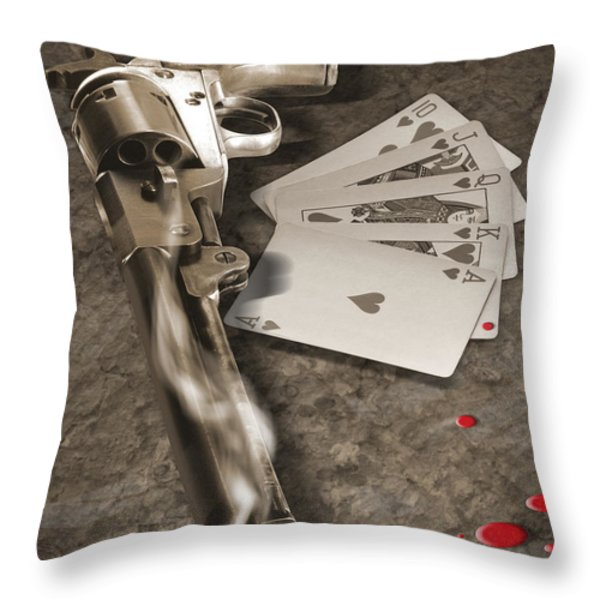 The Way of the Gun 2 Throw Pillow by Mike McGlothlen