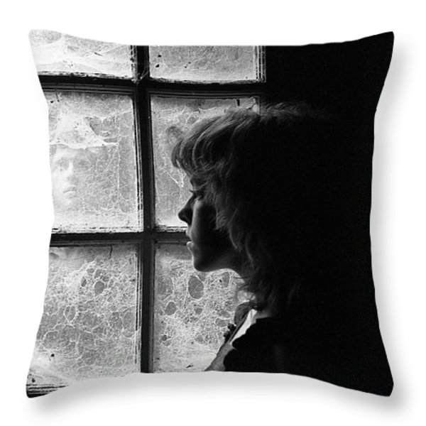 The Web Of Past Love 1980 Throw Pillow by Ed Weidman