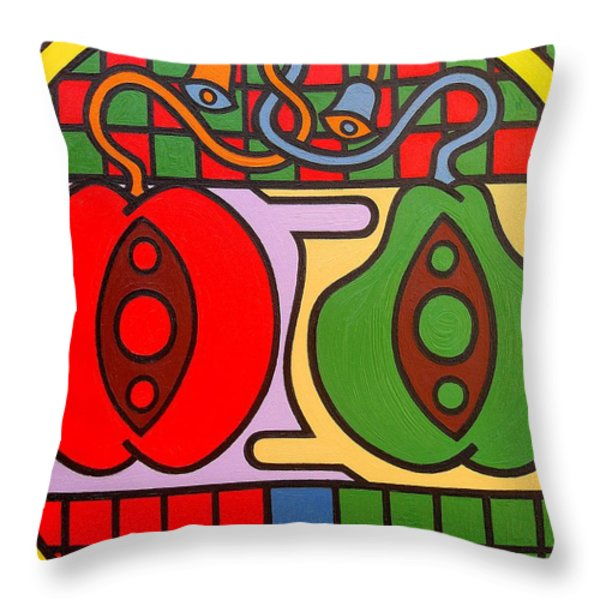 THE WEDDING Throw Pillow by Patrick J Murphy