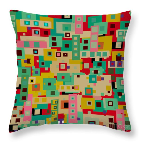The West End  Throw Pillow by Bri Buckley