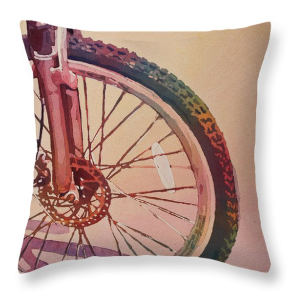 The Wheel in Color Throw Pillow by Jenny Armitage