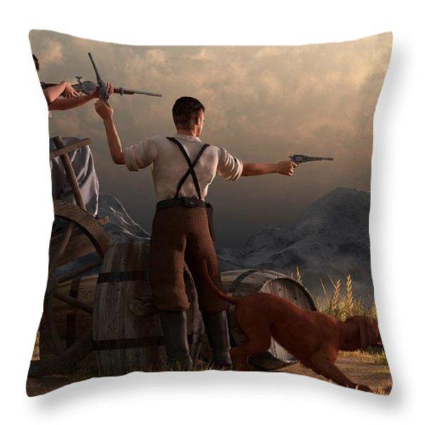 The Whiskey Thieves Throw Pillow by Daniel Eskridge